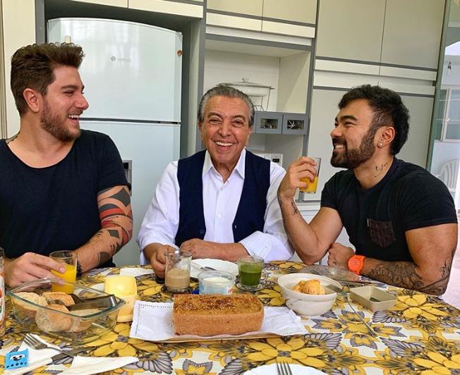 Maurício de Souza, genro e Mauro de Souza (à direita) (Foto: Reprodução/ Instagram)