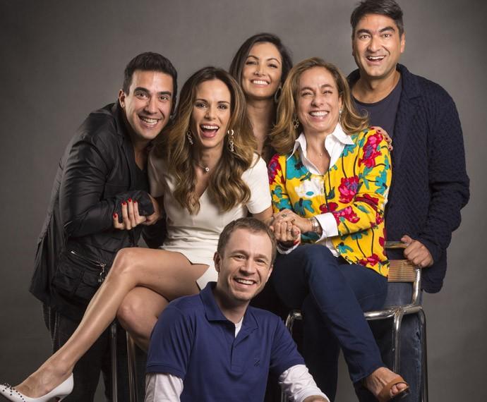 Apresentadores do É de casa: André Marques, Ana Furtado, Patrícia Poeta, Cissa Guimarães (Foto: Reprodução)