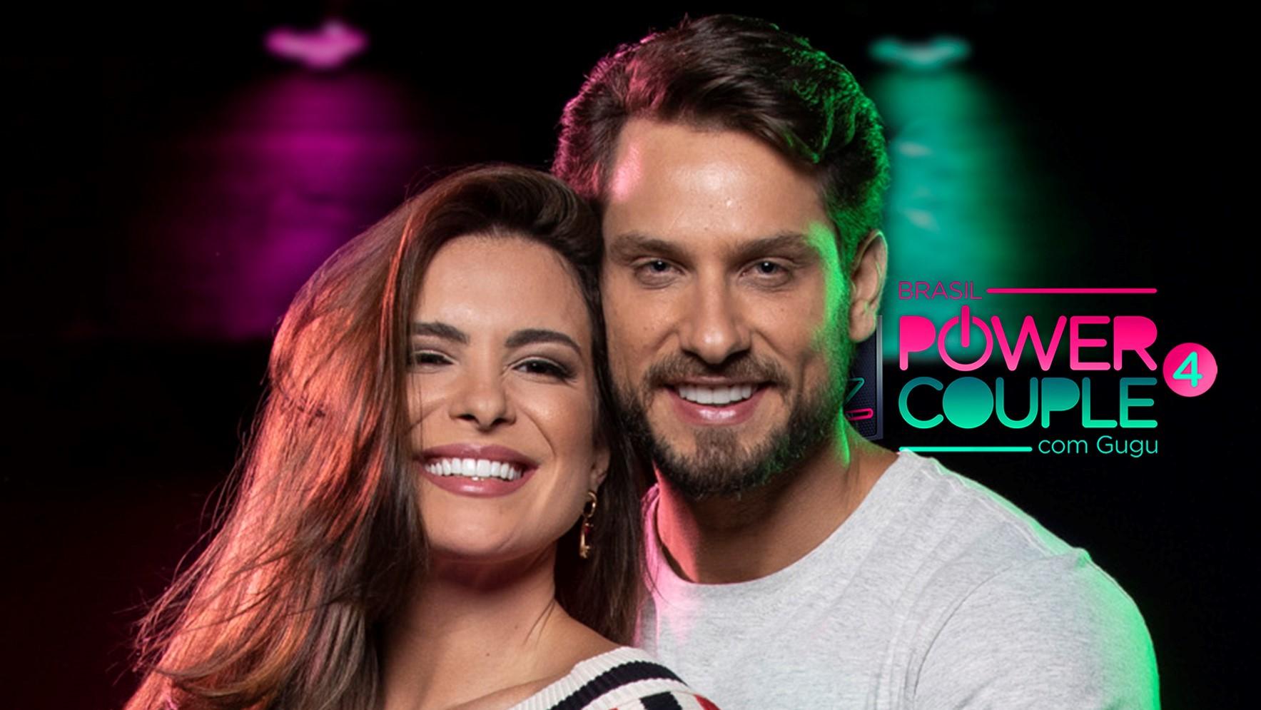 "Eliéser AmbrósioeKamilla Salgado no ""Power Couple"" (Foto: Reprodução)"