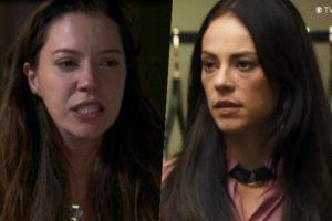 Fabiana (Nathalia Dil) é desmascarada e leva surra de Vivi (Paolla Oliveira) em A Dona do Pedaço (Foto; Reprodução/Globo)