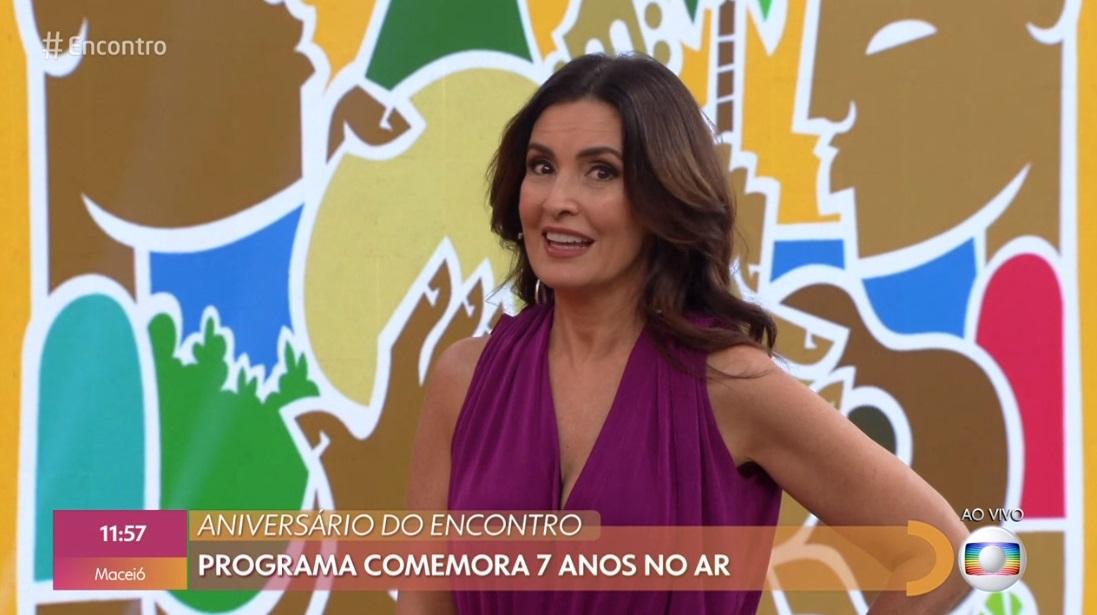 Fátima Bernardes comanda o Encontro na Globo