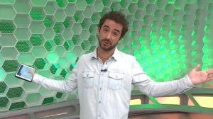 Felipe Andreoli no cenário do Globo Esporte de São Paulo (foto: Reprodução/TV Globo)