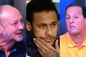 Neymar causou briga entre Benjamin Back e Flávio Gomes no Fox Sports (Foto: Reprodução/Montagem TV Foco)