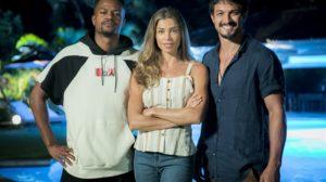 Ramon (David Junior), Paloma (Grazi Massafera) e Marcos (Romulo Estrela) em Bom Sucesso, nova novela das sete da Globo (Foto: Globo/Raquel Cunha)