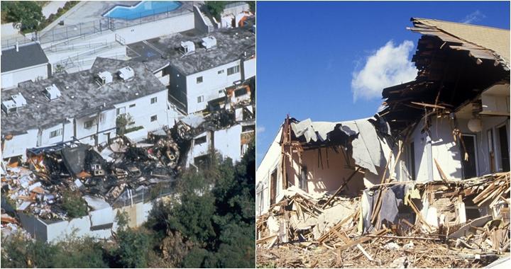 Alguns estragos provocado pelo terremoto em Los Angeles. (Foto: Montagem/Reprodução)
