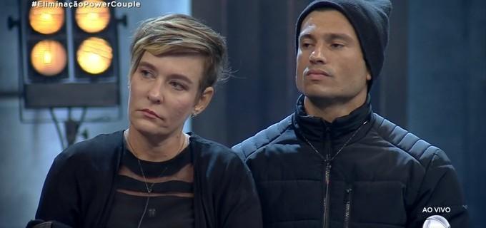 Jackie Sampaio e Maikel Castro foram os eliminados da noite desta terça-feira (4) do Power Couple Brasil 4 (Foto: Reprodução)