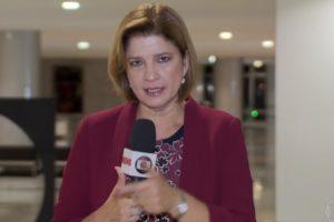 A jornalista Delis Ortiz é a responsável da Globo por cobrir o dia-a-dia do presidente Jair Bolsonaro (Foto: Reprodução)