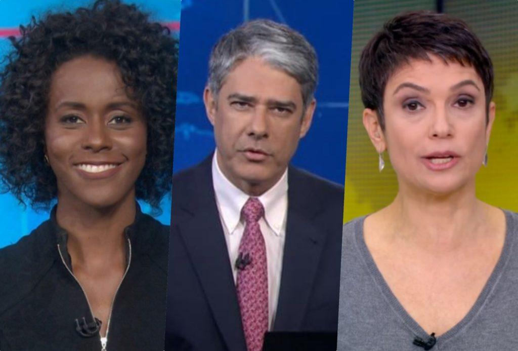 William Bonner, Maju Coutinho e Sandra Annenberg são os jornalistas mais amados da Globo