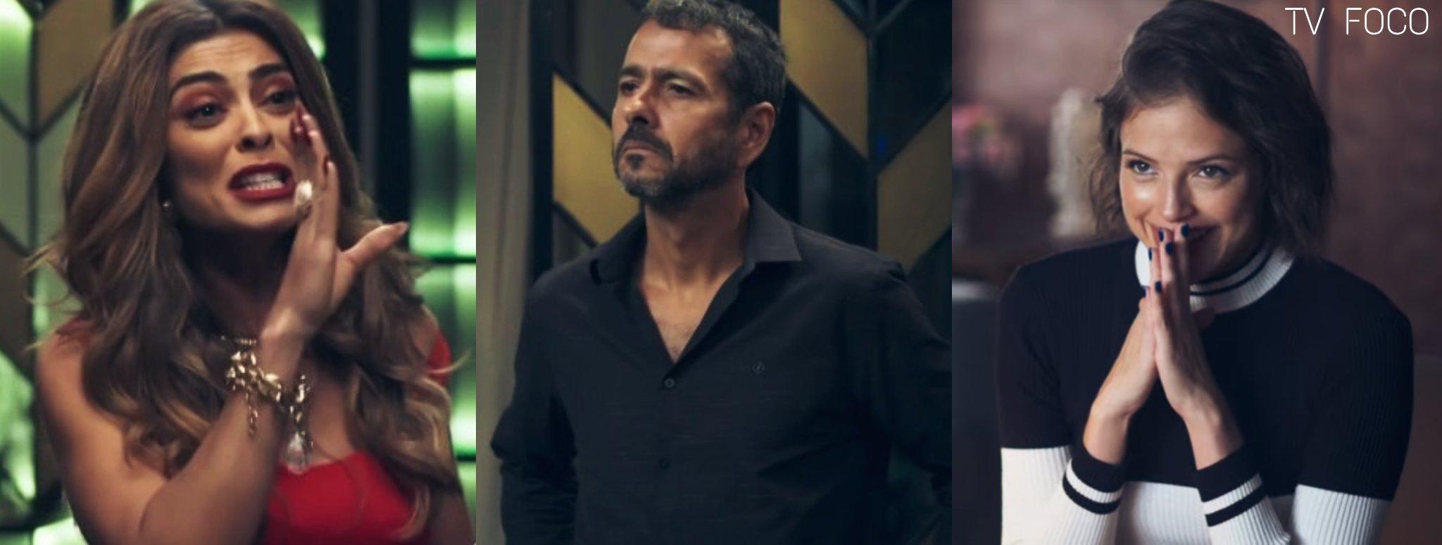 Josiane (Agatha Moreira) vibrará ao ver a relação de Amadeu (Marcos Palmeira) e Maria da Paz (Juliana Paes) acabando em A Dona do Pedaço da Globo