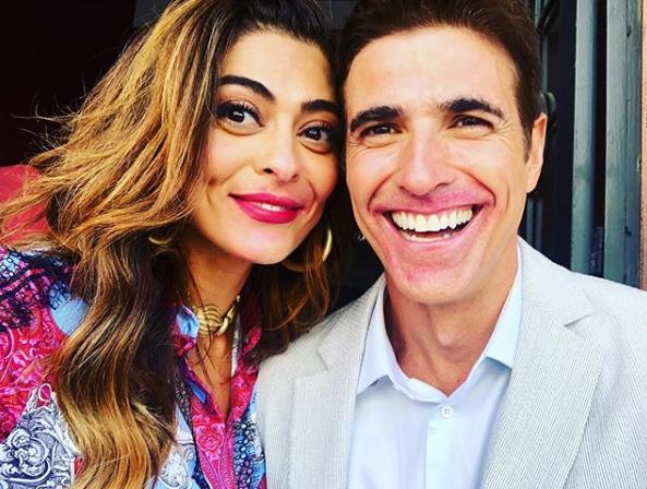 Juliana Paes e Reynaldo Gianecchini nos bastidores de A Dona do Pedaço (Foto: Reprodução/ Instagram)