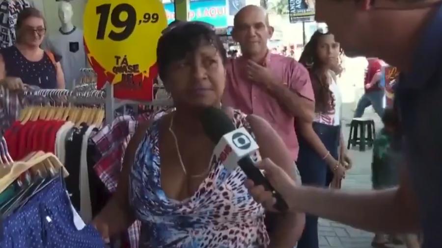 Repórter da Globo Nordeste passou por momento inusitado durante reportagem do dia dos namorados (Reprodução: Globo Nordeste)