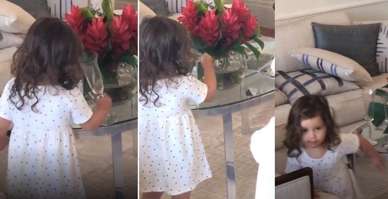 A filha de Bruno Gissoni, Madalena (Foto: Reprodução/Instagram)
