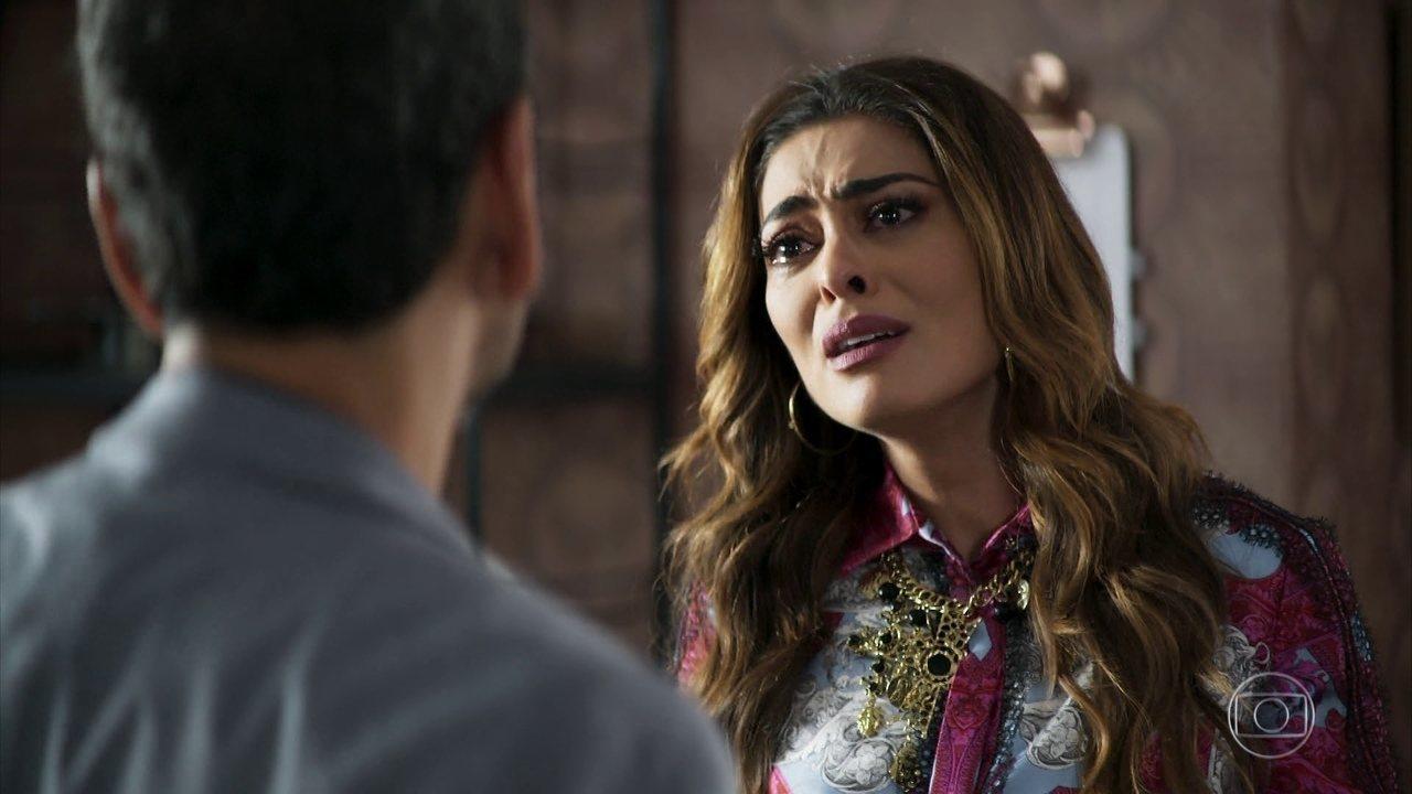 Maria da Paz (Juliana Paes) em cena na novela A Dona do Pedaço da Globo