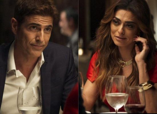 Maria da Paz (Juliana Paes) está cada vez mais rendida por Régis (Reynaldo Gianecchini) em A Dona do Pedaço da Globo