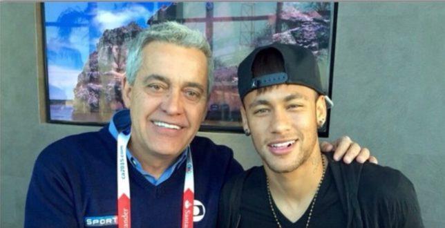 Mauro Naves da Globo e Neymar (Foto: Reprodução/ Instagram)
