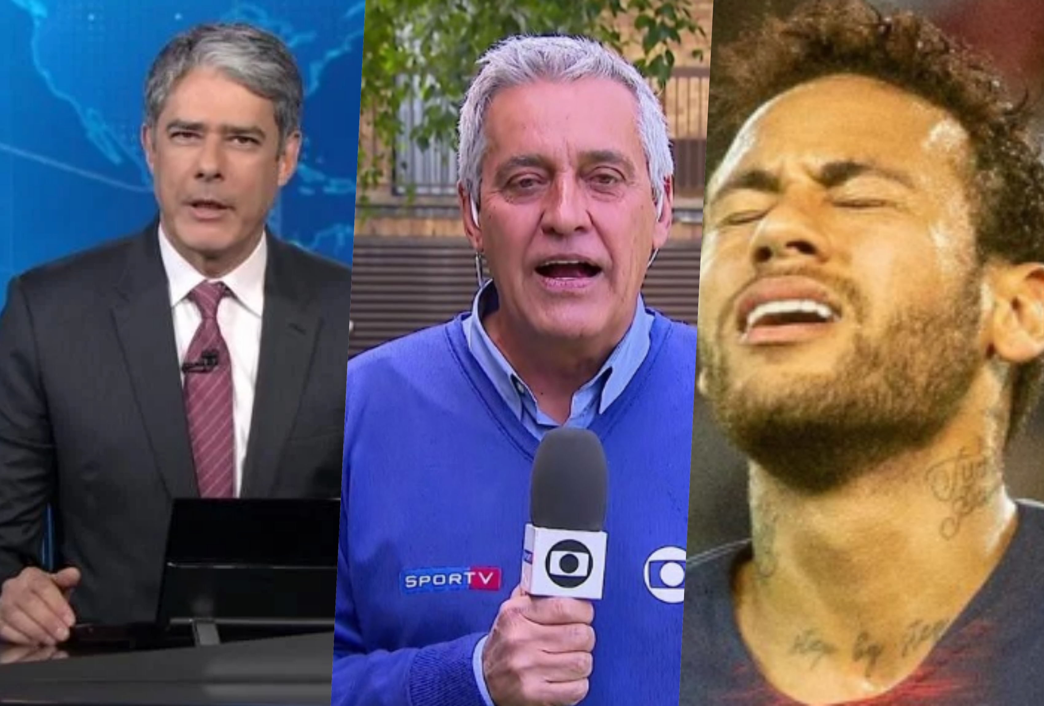 Mauro Naves, experiente repórter da Globo, foi afastado após envolvimento no caso de Neymar (Foto: Montagem TV O Foco)