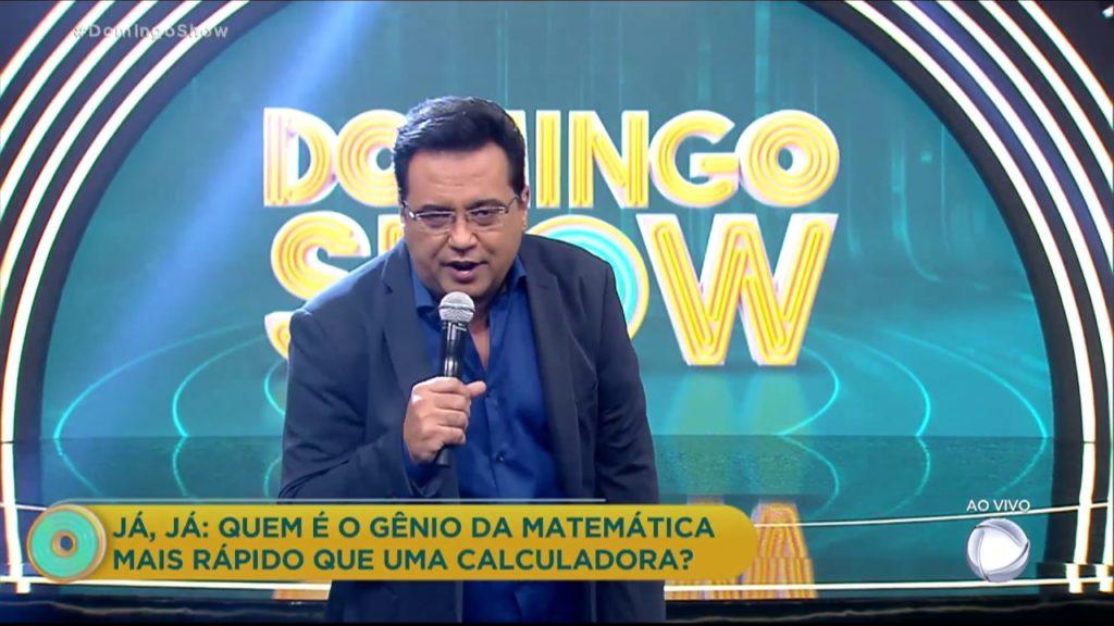 Geraldo Luís comandou o Domingo Show na tarde deste domingo (Foto: Reprodução)