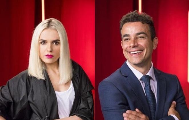 Anderson Di Rizzi vive o personagem Márcio e Monica Iozzi a empresária Kim na novela A Dona do Pedaço. (Foto: Divulgação)