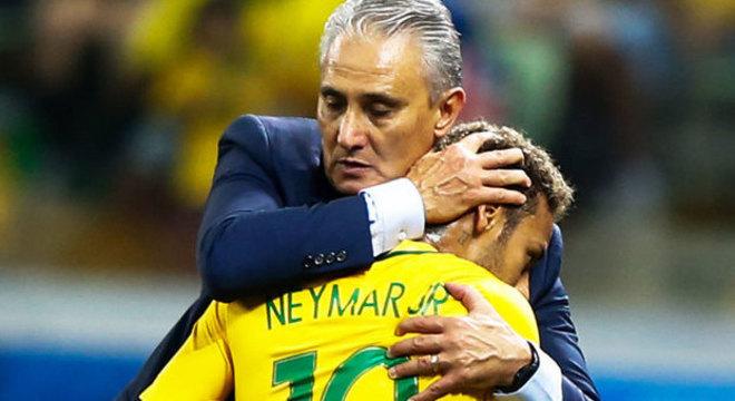 Tite dá apoio a Neymar em fase difícil