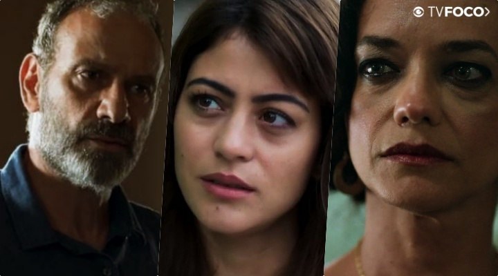 Elias (Marco Ricca) se meteu em uma relação complicada com a esposa e a amante em Órfãos da Terra da Globo