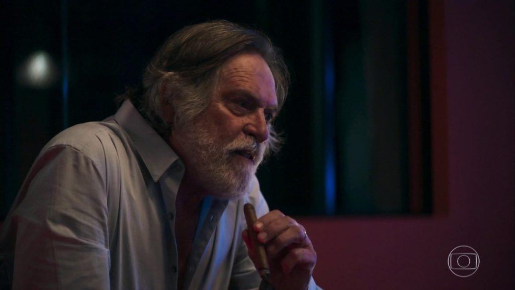 Otávio (José de Abreu) em cena na novela A Dona do Pedaço da Globo