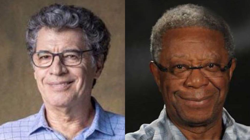 Os atores da Globo, Paulo Betti e Milton Gonçalves (Montagem: TV Foco)