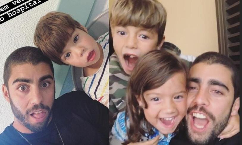 Pedro Scooby e seus filhos (Foto: Divulgação)
