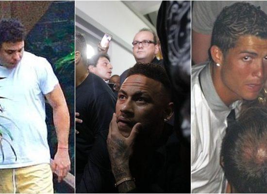 Além de Neymar, outros jogadores se envolveram em grandes escândalos que abalaram a carreira. (Foto: Montagem/Reprodução)