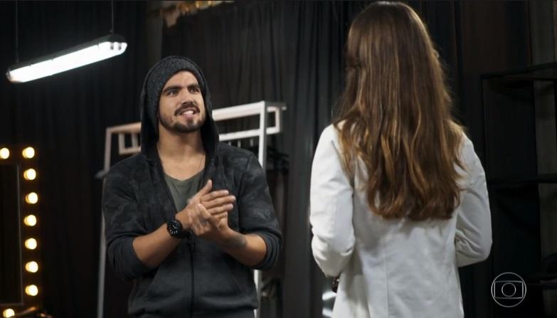 Rock (Caio Castro) em cena de A Dona do Pedaço da Globo