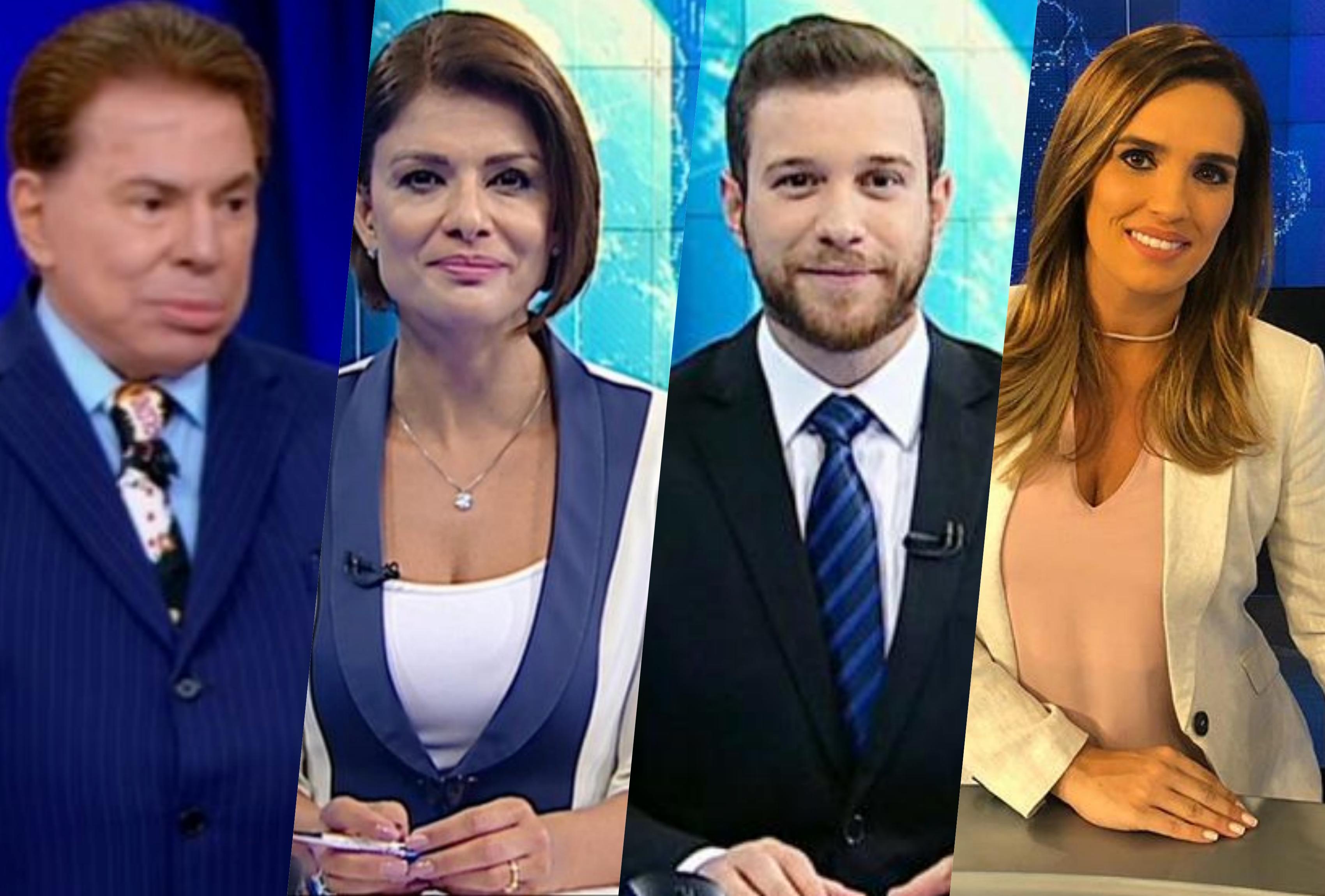 Silvio Santos mandou acabar com telejornal e promoveu demissões no SBT; Karyn Bravo foi uma das dispensadas (Foto: Reprodução/Montagem)