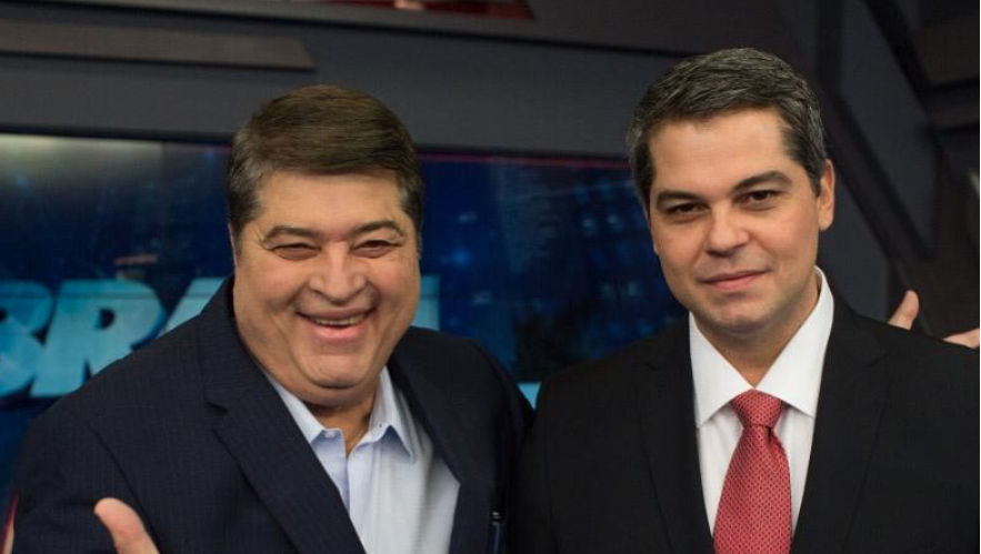 José Luiz Datena e o filho Vicente Foto: Reprodução