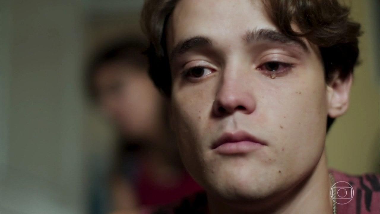Tiago (Dalilo Maia) fica impactado na Globo em Malhação Toda Forma de Amar