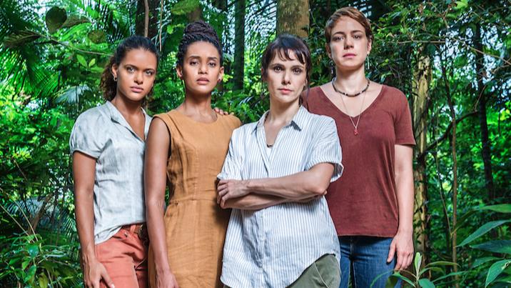 Clara (Thainá Duarte), Verônica (Taís Araújo), Natalie (Debora Falabella) e Luiza (Leandra Leal): série original Globoplay estreará em breve