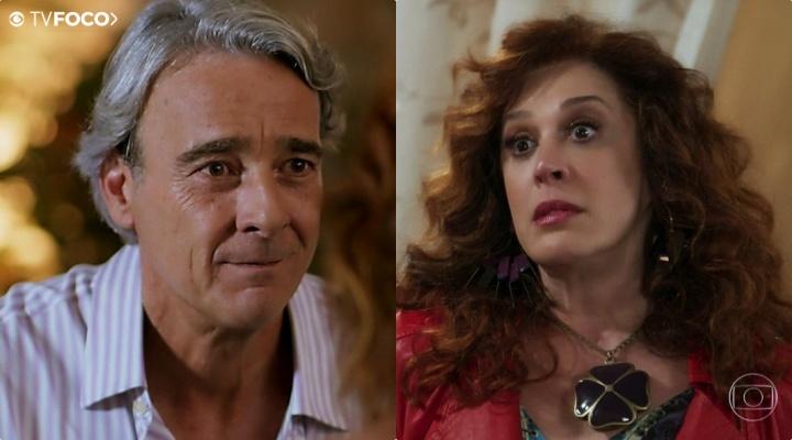 Na novela Verão 90, Lidiane (Claudia Raia) trai Quinzão (Alexandre Borges) da Globo