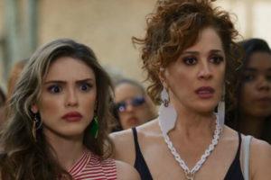 Manu (Isabelle Drummond) teve seu pai escondido por Lidiane (Claudia Raia) em Verão 90 (Foto: Reprodução/Globo)