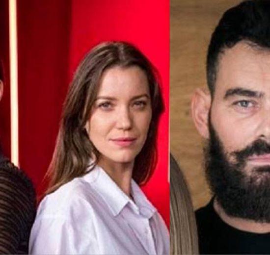 Vivi e Fabiana da novela A Dona do Pedaço e Paul de Órfãos da Terra. (Montagem TV Foco)