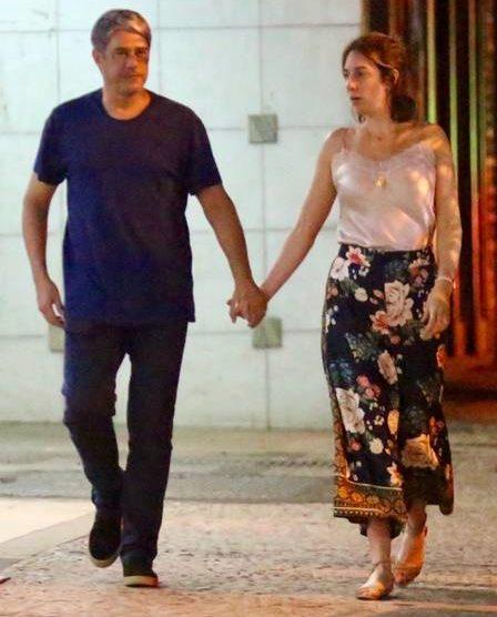William e sua esposa na noite deste último sábado, 15 de junho Foto: EXTRA