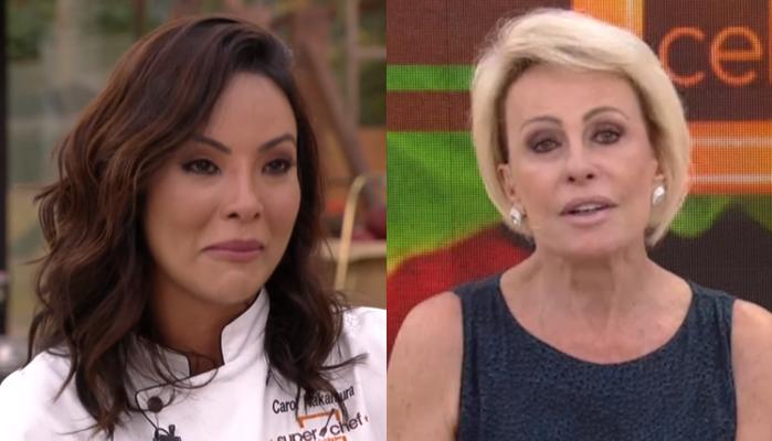 Carol Nakamura chorou no Mais Você e deixou Ana Maria Braga emocionada (Foto: Reprodução/Globo)