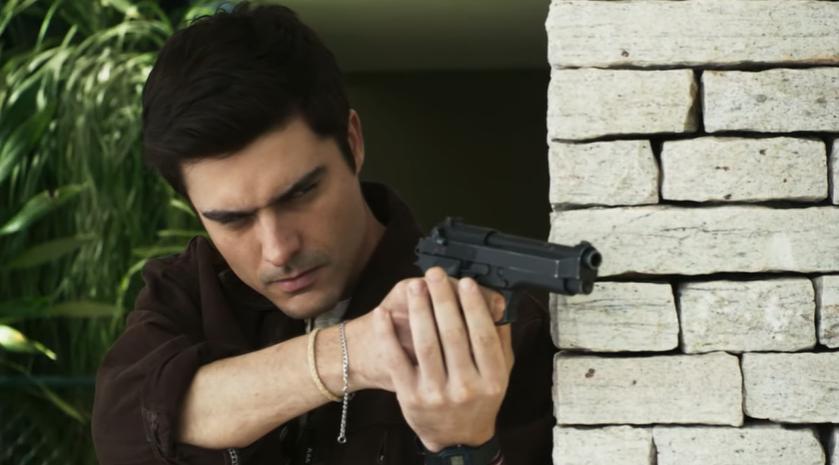 Leandro (Guilherme Leicam) em cena na novela A Dona do Pedaço (Reprodução: TV Globo)