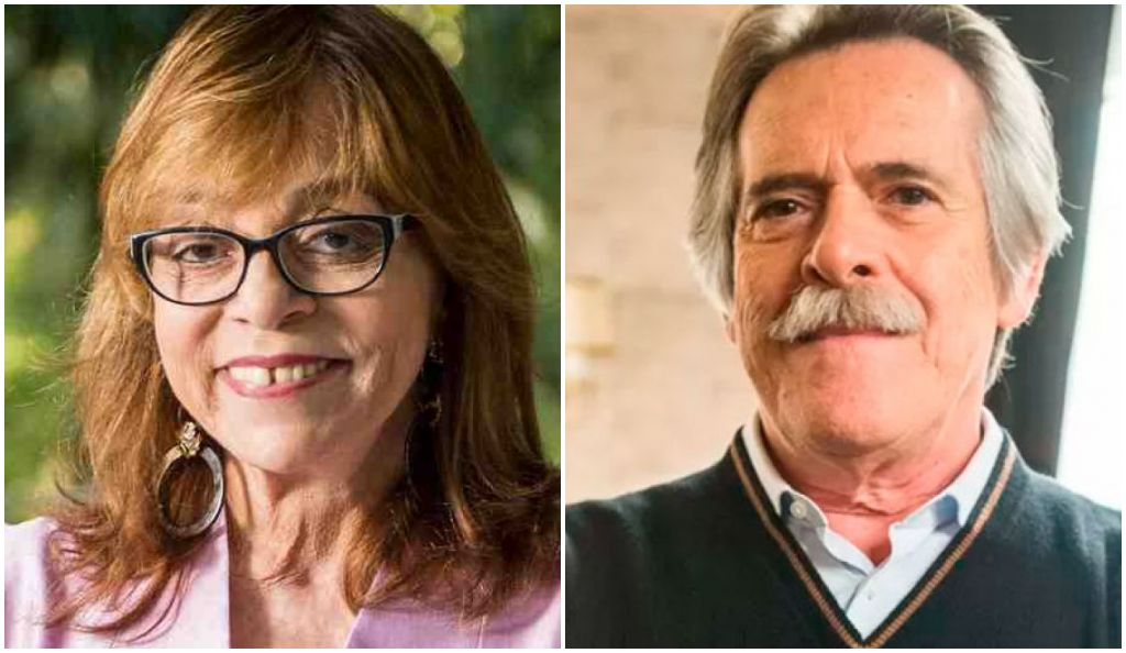 A autora Gloria Perez e o ator José de Abreu viraram desafetos por causa de Jair Bolsonaro (Foto: Montagem)
