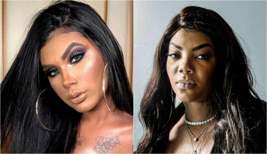Pocahontas e Ludmilla (Foto: Montagem/TV Foco)