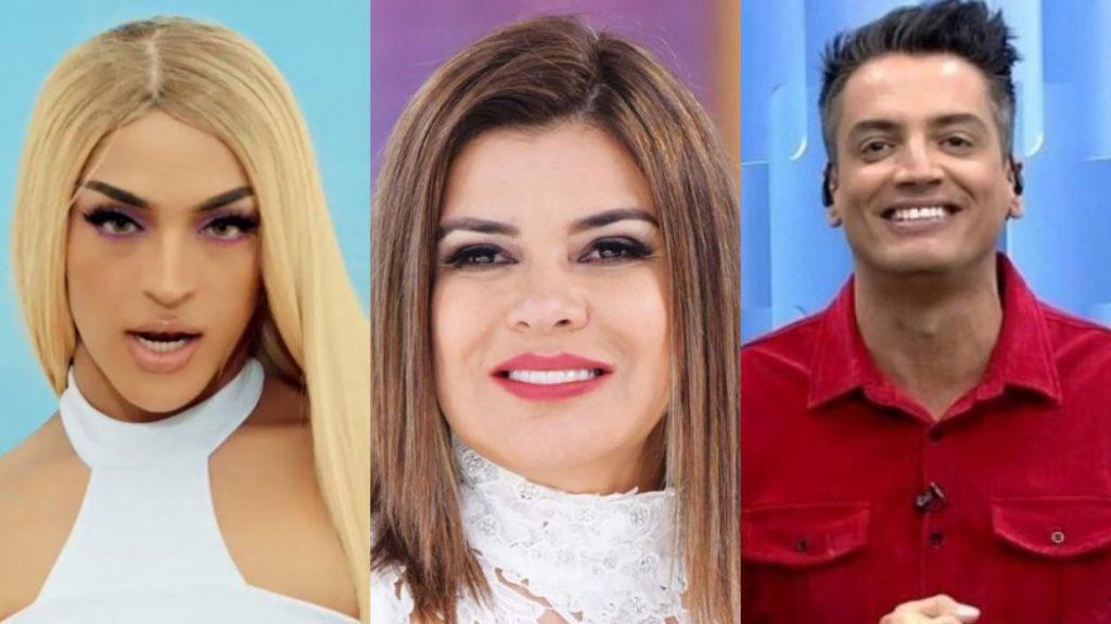 Pabllo Vittar, Mara Maravilha e Leo Dias (Foto: Montagem/TV Foco)