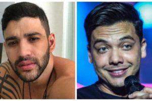 O cantor sertanejo Gusttavo Lima e Wesley Safadão tem diferença de cachê enorme (Foto: Montagem)