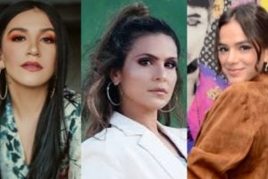 Priscilla Alcântara, Aline Barros e Bruna Marquezine (Foto: Montagem/TV Foco)