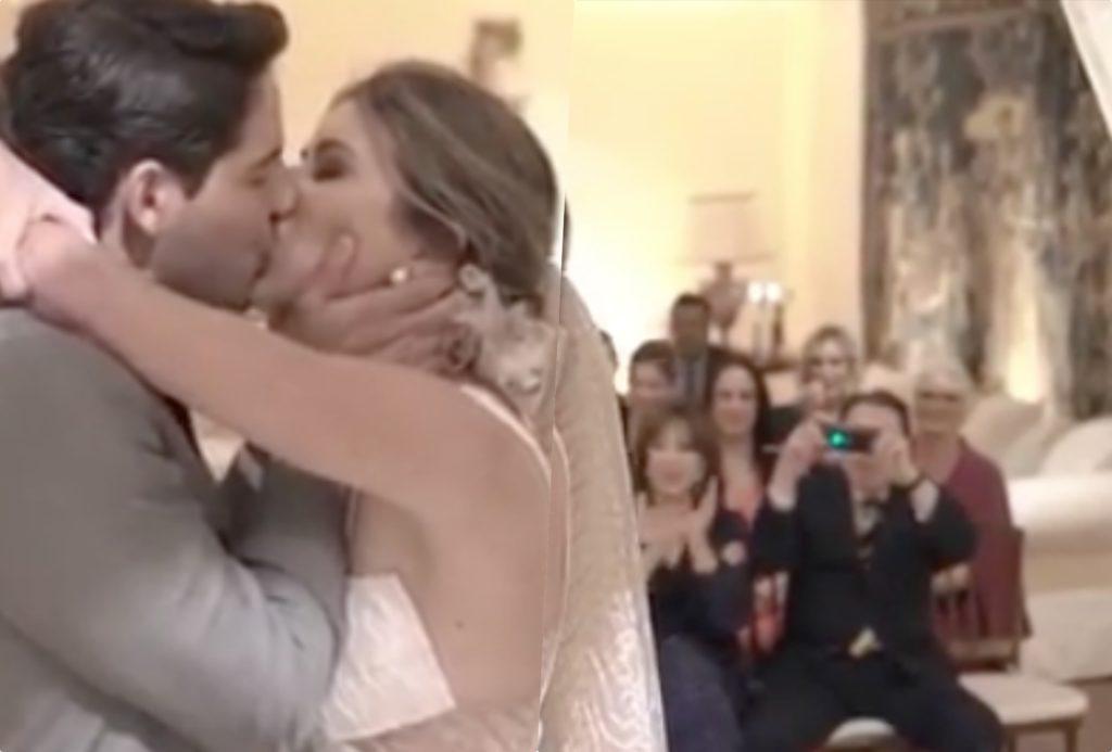 Rebeca Abravanel e Alexandre Pato se casaram na casa de Silvio Santos