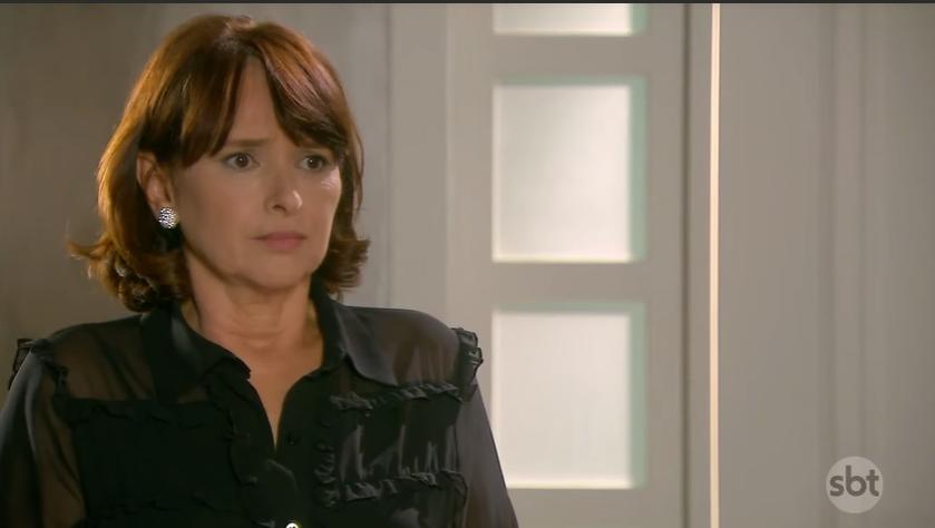 Ruth (Myrian Rios) em cena na novela As Aventuras de Poliana, do SBT. (Foto: Reprodução)