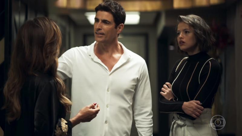 Josiane (Agatha Moreira) assumirá golpe com Régis (Reynaldo Gianecchini) e tomará tudo da mãe em A Dona do Pedaço (Foto: Reprodução/Globo)