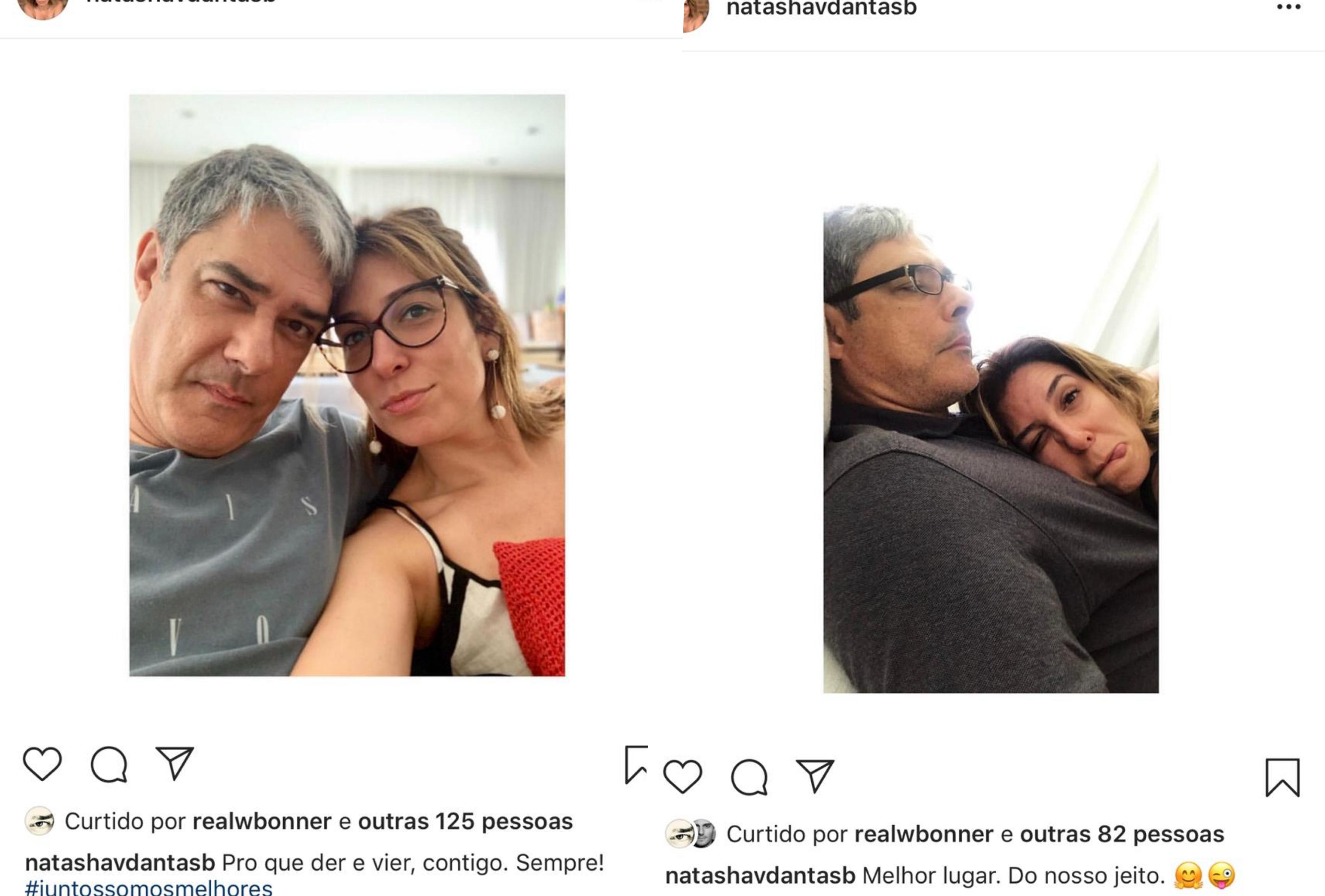 Natasha Dantas e o marido William Bonner (Foto reprodução: Instagram)