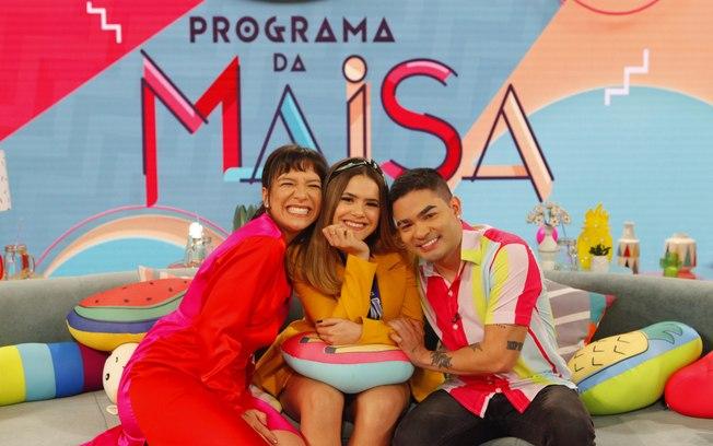 Maisa recebe Priscilla Alcântara e Yudi Tamashiro em talk show (Foto: Divulgação/SBT)