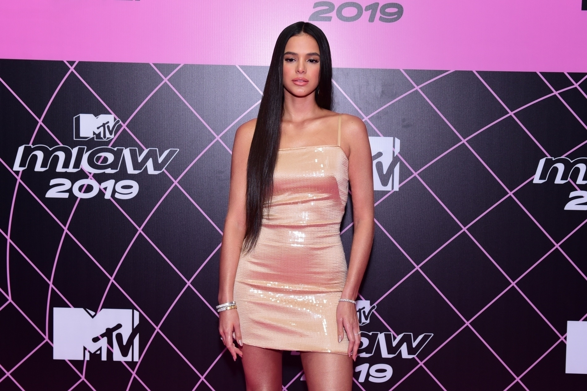 A atriz da Globo e ex-namora de Neymar, Bruna Marquezine durante evento da MTV (Foto AgNews)